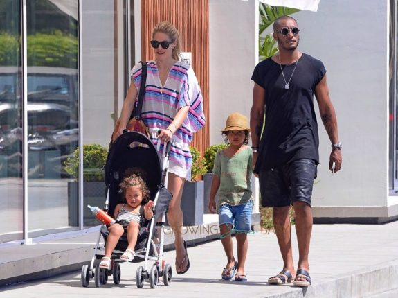 Doutzen Kroes And Sunnery James On Holiday In Ibiza with their kids Phyllon and Myllena