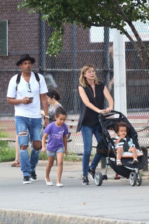 Ellen Pompeo and Chris Ivery out in NYC with kids Sienna & Stella