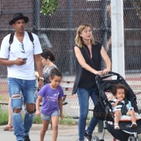 Ellen Pompeo & Chris Ivery Stroll In The City With Their Girls