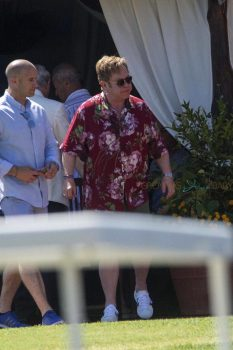 Elton John Vacations in Sardinia