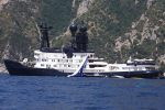 James Packer's Yacht Arctic P in Capri, Italy