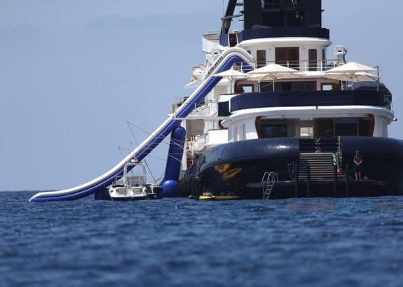 James Packer's Yacht Arctic P in Capri, Italy