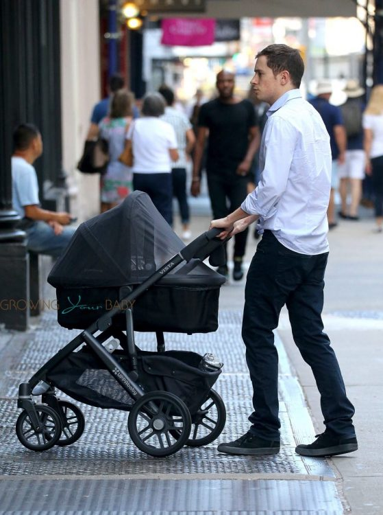 James Rothschild out with his baby girl in NYC