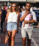 John Legend and Chrissy Teigen enjoy a day of sight-seeing in Saint-Tropez with their daughter Luna