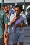John Legend and Chrissy Teigen enjoy a day of sight-seeing in Saint Tropez with their daughter Luna
