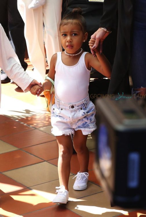Kim Kardashian's daughter North West at great grandmother's store opening San Diego