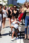 Kim and Khloe Kardashian with Mason and North in San Diego