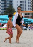 Kourtney Kardashian with son Mason Disick in Miami