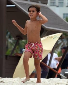 Mason Disick at the beach in Miami