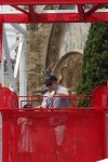 Matthew Broderick rides Talaia at Tibidabo Amusement Park with his daughter