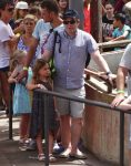 Matthew Broderick with his daughter at Tibidabo Amusement Park