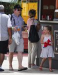 Matthew Broderick with his twins at Tibidabo Amusement Park