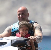 Mariah Carey's Twins Jetski in Capri!