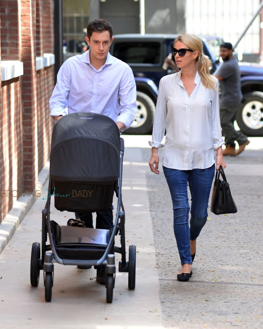 Nicky Hilton Rothschild and husband James out in NYC with baby Lily
