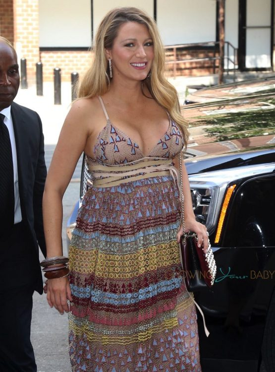 Pregnant Blake Lively arrives back at her hotel in NYC
