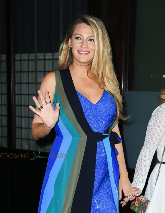 Pregnant Blake Lively promotes her new movie Cafe Society