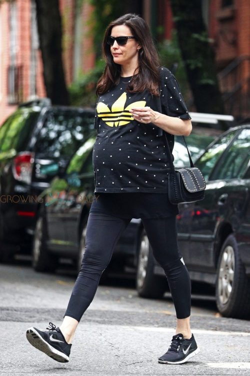 Pregnant Liv Tyler is almost there!