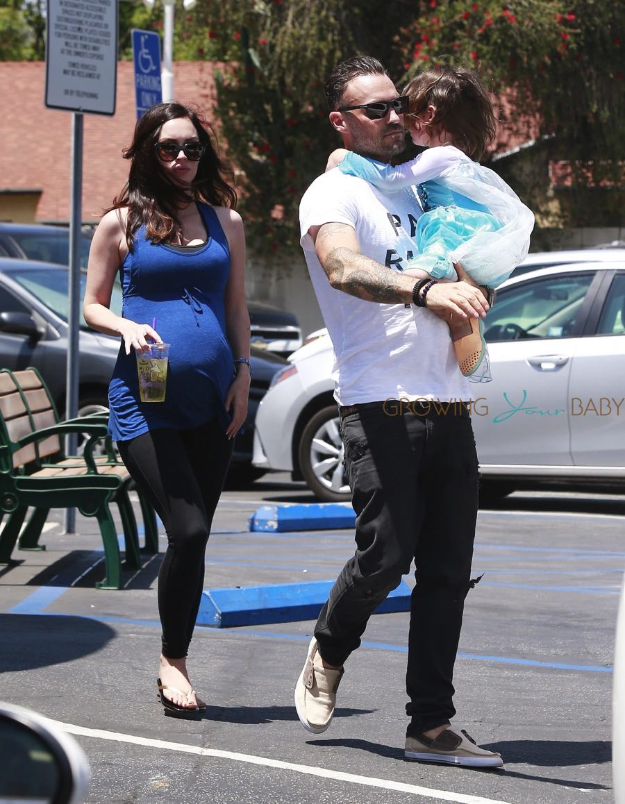 Pregnant Megan Fox & Brian Austin Green Out With Their Kids In Studio City