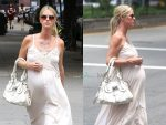 Pregnant Nicky Hilton Rothschild out in NYC