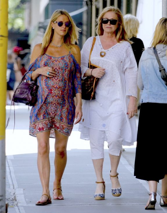 Pregnant Nicky Hilton out with mom Kathy Hilton in NYC
