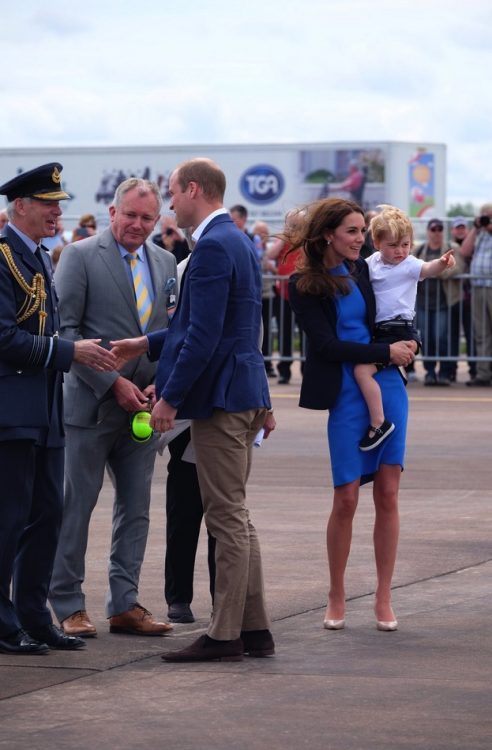 Prince George and his mom the Duchess of Cambridge at the RIAT AIRSHOW