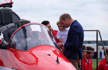 Prince George & his dad the Duke of Cambridge at the RIAT AIRSHOW