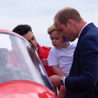 Prince George Visits The Riat Airshow With His Parents