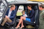 Prince George with his parents, the Duke and Duchess of Cambridge at the RIAT AIRSHOW