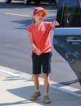 Seraphina Affleck arriving for Sunday Service