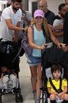 Shakira and Girard Pique with sons Milan and Sasha Pique Mebarak