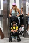 Shakira and Girard Pique with sons Milan and Sasha Pique Mebarak at MIA airport