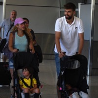 Shakira And Gerard Pique Arrive In Miami With Their Boys