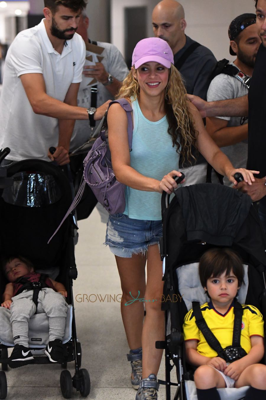 Shakira And Girard Pique With Sons Milan And Sasha Pique
