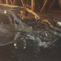 Van bursts into flames after accident 2