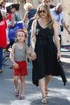 Alicia Silverstone with son Bear Blu Jarecki at the farmer's market in LA