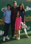 Cameron Matheson with his wife and kids at Pete's Dragon Premiere in Hollywood