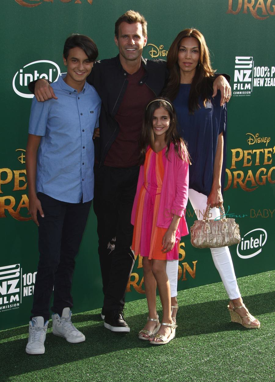 Cameron Matheson with his wife and kids at Pete's Dragon Premiere in Hollywood - Growing Your Baby