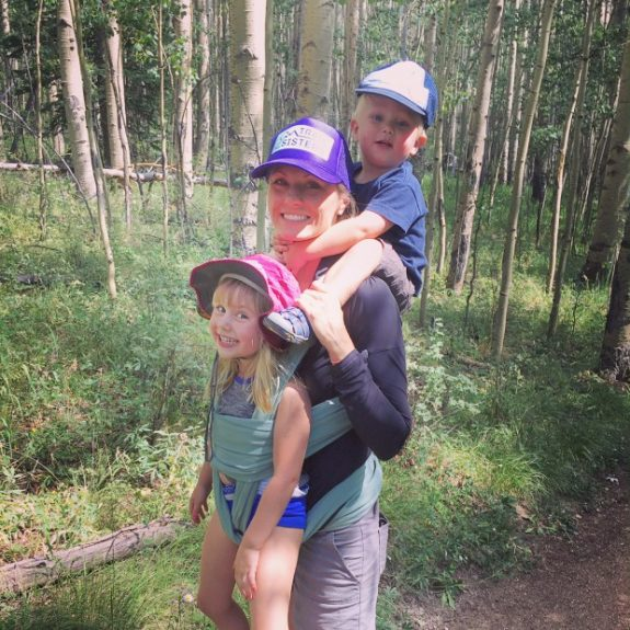 Chelsey Russell with her kids
