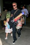 David Beckham at LAX with daughter Harper