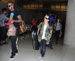 David Beckham at LAX with kids Cruz and Brooklyn