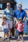 Elton John, David Furnish, Elijah Furnish-John, Zachary Furnish-John in St. Tropez