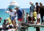 Elton John, David Furnish leave their yacht with sons Elijah Furnish-John, Zachary Furnish-John in St. Tropez