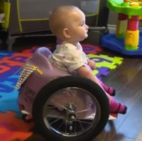Paralyzed Toddler Finds Freedom in Homemade Wheelchair