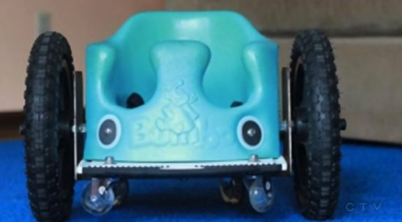 Evelyn Moore's custom wheelchair