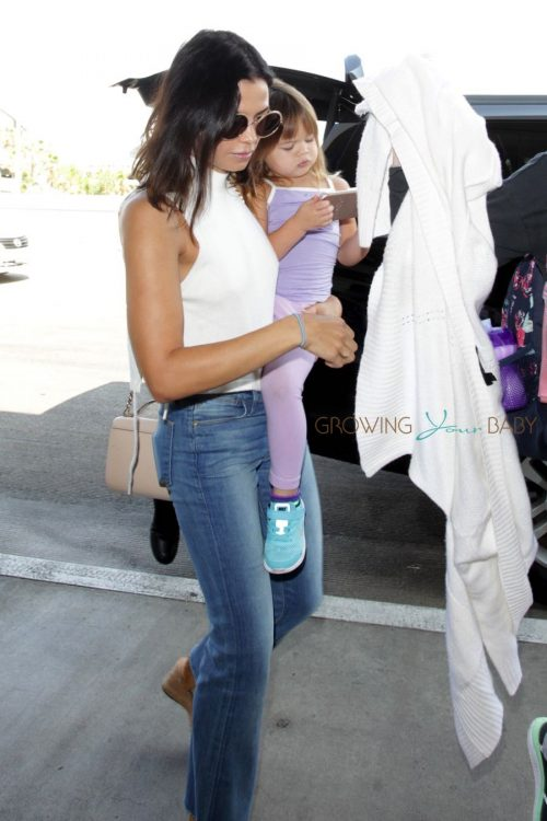 Jenna Dewan Tatum at LAX with daughter Everly