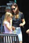 Jennifer Garner with daughter Violet Affleck at Sunday Church