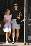 Jennifer Garner with daughter Violet Affleck at Sunday Church