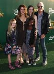Joely Fisher with her family at Pete's Dragon Premiere in Hollywood