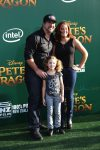 Joey Fatone with his daughter at Pete's Dragon Premiere in Hollywood