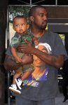 Kanye West steps out in NYC daughter North West